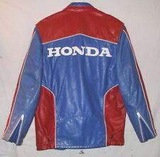 Vintage Hondaline Leather Sports Wear Motorcycle Jacket Size 40 Honda Racing