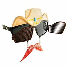 Sun-Staches Western Cowboy Swinging Doors Glasses Sunglasses Costume Accessory