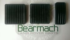 Land Rover Defender 90, 110, Pedal Covers, Brake Accelerator Clutch Set Bearmach