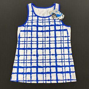 DUC Sports Womens Athletic Tank Top Blue/White Size Medium