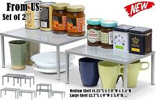 Kitchen Pantry Cabinet Rack Shelves Spice Storage Shelf Counter Bar Organization