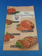 BEEF BEYOND BELIEF RECIPE BOOKLET PROTEN BEEF ADVERTISING ROAST STEAK STEW