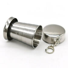Stainless Travel Telescopic Collapsible Shot Glass Emergency Pocket Folding Cups