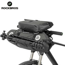 ROCKBROS Waterproof Bicycle Front Pannier Large Capacity Bike Roll Handlebar Bag