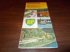 1972 BP Pennsylvania Vintage Road Map