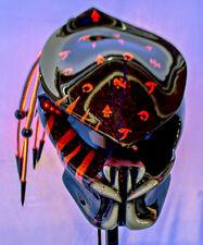 predator motorcycle helmet fiber optic dreadlocks orange scars airbrushed teeth