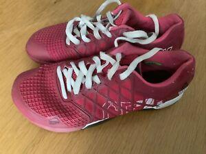 WOMEN's REEBOK CrossFIT  RED TRAINERS SIZE Uk 6 Eu 39