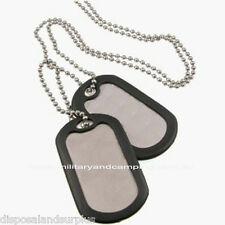Silver Dog Tags with Silencers Military ID Tags Brand New