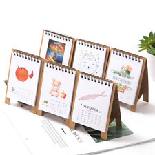 2019 New Year Kawaii Cartoon Table Calendar Mini Table Calendar Agenda Organizer