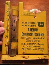 Aberdeen Mississippi,John Deere-Gresham Equipment Company Rain Gauge