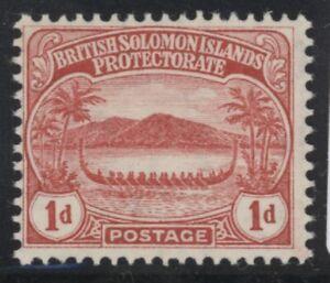 British Solomon Islands Edward VII 1d red stamp (SG9) dated 1908 mint