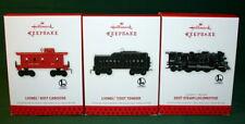 HALLMARK 2013 LIONEL STEAM LOCOMOTIVE, TENDER, CABOOSE TRAIN-- SET OF THREE
