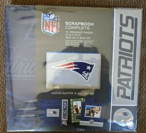 NEW! NFL New England Patriots SCRAPBOOK Album 16 Pages and Embellishments 12x12