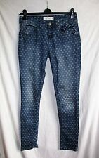Women's FISHBONE SKINNY STAR PATTERNED stretch blue jeans size 30 VGC COOL