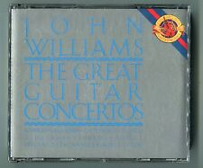 John Williams 2 CDs THE GREAT GUITAR CONCERTOS © 1989 25th Anniversary Edition