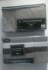 victoria classics 4 piece embellished microfiber sheet set