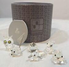 Boxed Swarovski Mini Zoo Set - Chick, Duck, Mouse, Owl, Rabbit, Sparrow