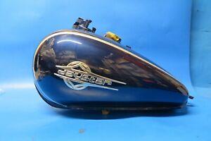 Daelim Daystar VL125 Carb petrol tank in dark blue and silver 1751ABA1MA00DB