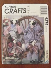 McCALL'S PATTERN - 4275 CRAFTS COUNTRY COW DOLLS BULL & COW X 2 SIZES UNCUT