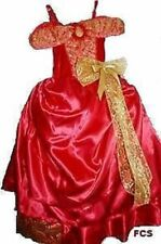 New Girls BARBIE RED CAROL Ballgown Fancy dress Party costume 3/4/5 Fairy Tale