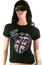 Amplified Rolling Stones Union Jack GB lengua rock star VINTAGE VIP L