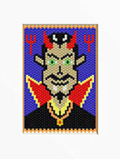 Dracula For Halloween~Beaded Banner Pattern