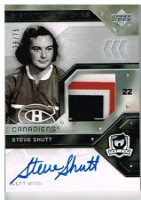 06-07 The Cup SIGNATURE PATCH xx/75 Made! Steve SHUTT - Canadiens