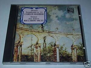 CD - MOZART - SYMPHONIE 33 - CARLOS KLEIBER - STRAUSS