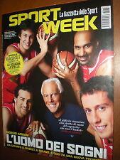 Sport Week.GIORGIO ARMANI,ALEKSANDR DJORDJEVIC, LEO MESSI,EVGENY PLUSHENKO,iii