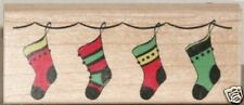 """STAMPABILITIES """"STOCKING BORDER""""  RUBBER STAMP"""