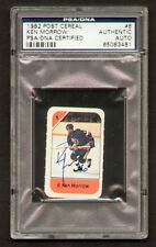 Ken Morrow signed autograph auto 1982 Post Cereal Hockey Card PSA Slabbed