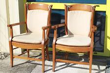 Paire de fauteuils paillé en bois de hêtre