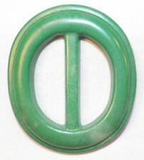 Vintage Green Belt Buckle Oval Hard Plastic 1940s Retro Nice