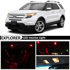 13x Red Interior LED Lights Package Kit for 2011-2015 Ford Explorer