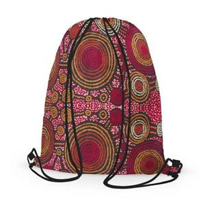 Aboriginal Art Drawstring Bag - Teddy Gibson