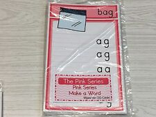 The Pink Series -Make a Word Wipewriter (30 Cards) Montessori