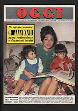 OGGI 46/1965 MARILYN MONROE + FIGURINE QUIZ ALFA ROMEO 2600 FIAT 2300 ROVER 2000