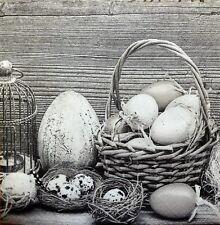20 X Papel Servilletas Huevos De Pascua cesta Tulipanes w10 Mesa de fiesta
