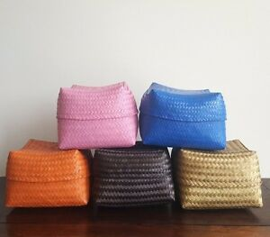 Basket/box, bamboo, handmade, decorative, storage, planters, gift, L, 5 colours