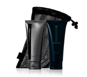 MARY KAY MK MEN 2pc Hair & Body Wash Gift Set w/Mesh Bag