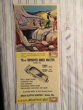 """Vintage Barbershop Humorous Andis Master Clipper Sign/Ad Cartoon """"Mountain Boys"""""""