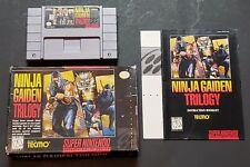 Ninja Gaiden Trilogy (Super Nintendo Entertainment System, 1995) Complete in Box
