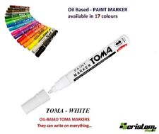 WHITE WATERPROOF PERMANENT CAR TYRE TIRE METAL PAINT PEN OIL BASED MARKER TOMA