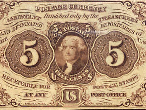 5 Cents First Issue Fractional Currency FR 1231 Straight Edge PMG 64 EPQ WOW