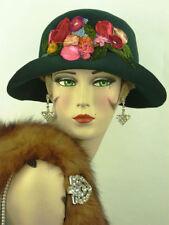 Cloche Velvet Original Vintage Hats for Women