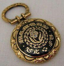 An Antique Mid Victorian Era Memento Mori Enamel Locket Pendant. Pinchbeck.