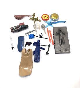 Mixed Lot Of Action Figure Accessories Weapons Guns Star Wars Power Rangers Xmen