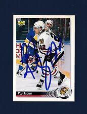 Rob Brown signed Chicago Blackhawks 1992-93 Upper Deck hockey card