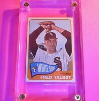 1965 Topps Baseball Card #58 Fred Talbot Chicago White Sox  Near Mint NM
