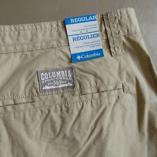 Columbia Sportswear Angus Springs Shorts Men's Size 40 Beige Tan NEW $40 NWT